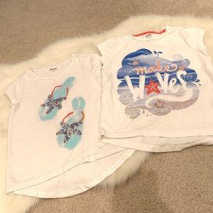 Set of 2 Gymboree seashell embellished t-shirts 5T
